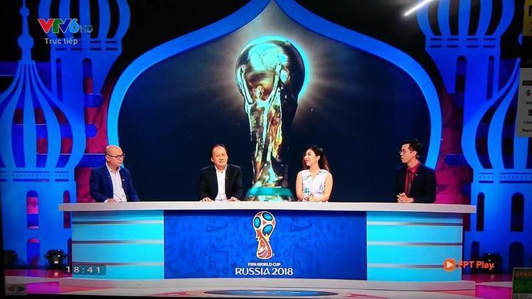 MC Vân Anh đã có những bình luận đầy sắc sảo trên sóng VTV.