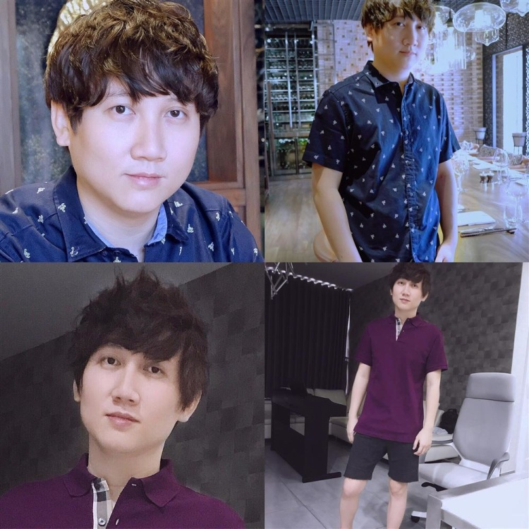 Mr.Siro trước và sau khi giảm cân.
