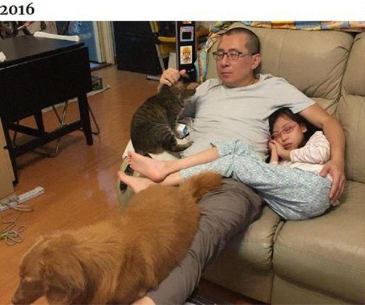 Loạt ảnh cha, con gái và thú cưng chụp ảnh cùng nhau suốt 10 năm khiến trái tim ta tan chảy