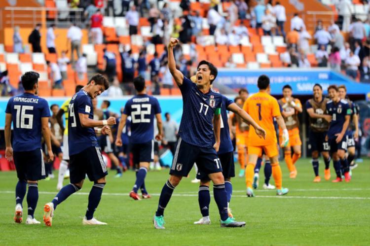 Nhật Bản giành chiến thắng lịch sử trước Colombia. Ảnh: Getty.