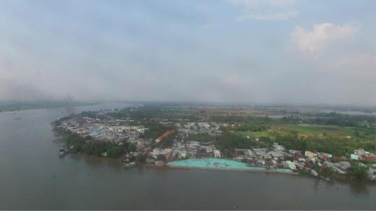 Sông Vàm Nao (An Giang), nơi xảy ra vụ sạt lở kinh hoàng tháng 4-2017. Ảnh: SONG ANH