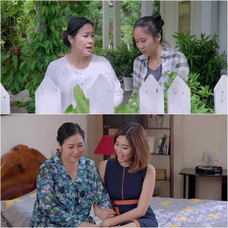 Cách đối xử của bà Mai với Hương và Hân