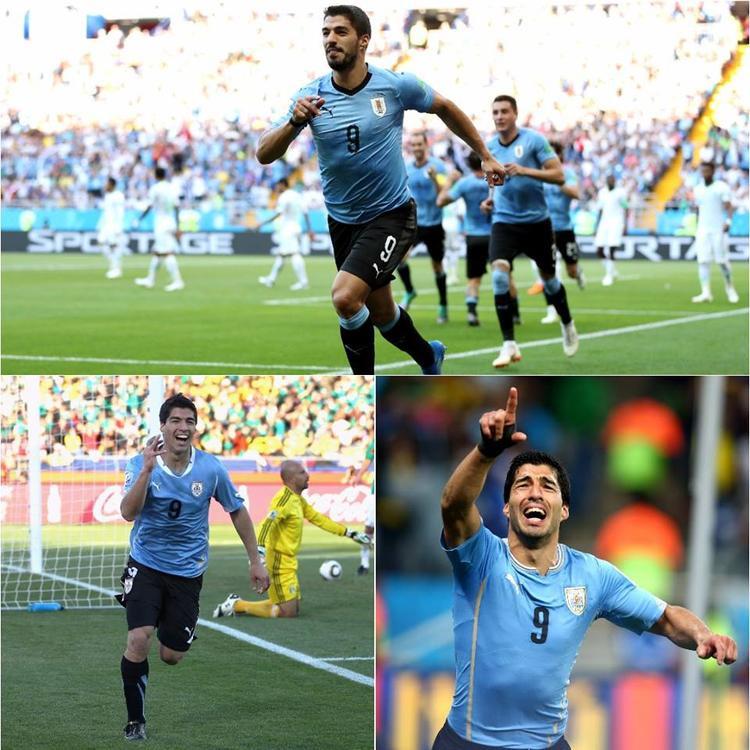 """Suarez đã có bàn thắng """"vàng"""" đưa Uruguay vào vòng 1/16. Ảnh: FIFA"""