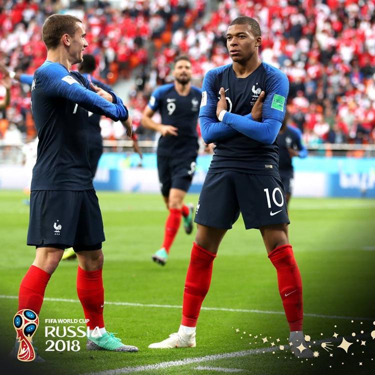 Mbappe ghi bàn thắng lịch sử ở World Cup 2018. Ảnh: FIFA
