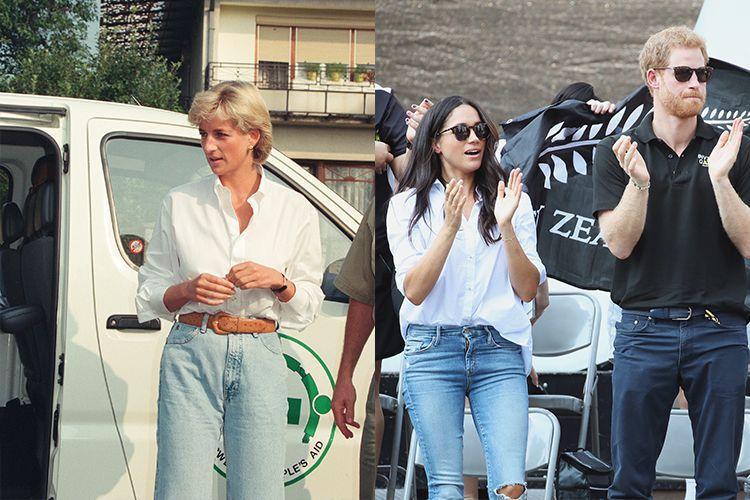 5. Bộ trang phục đơn giản trong chuyến đi của Công nương Diana tới Bosnia Herzegovina trong khi đó, Meghan diện phong cách tương tự trong một sự kiện dành cho các cựu chiến binh.