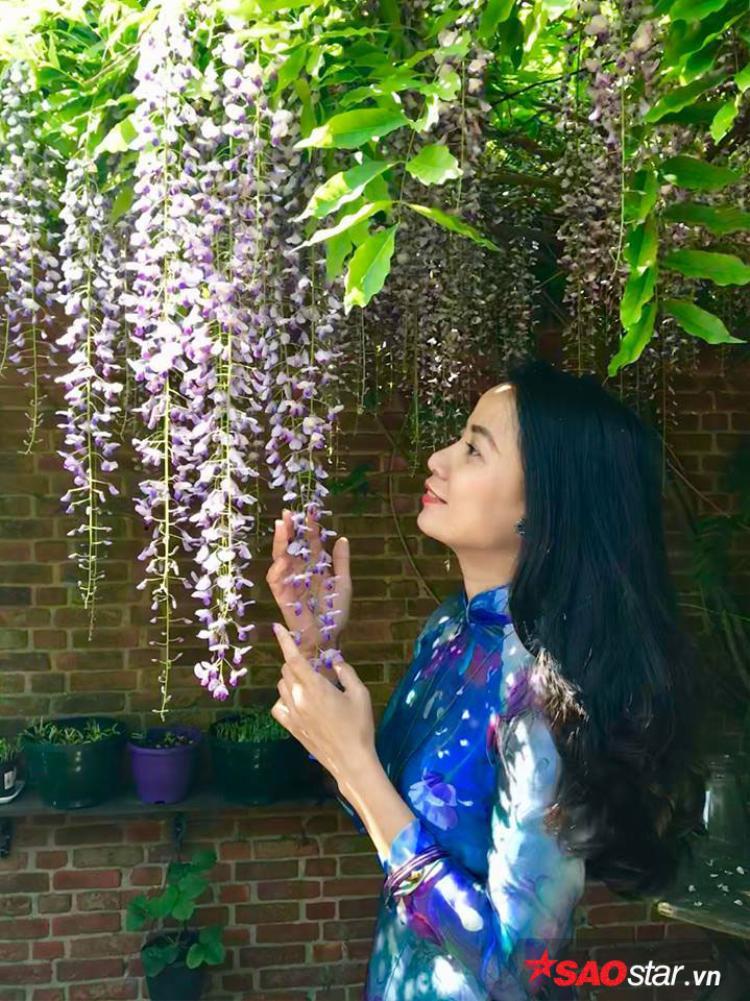 Khu vườn của chị Phạm Xinh được nhiều người Việt ở ngoại quốc nhắc đến với cây hoa tử đằng được chồng chị trồng cách đây 20 năm, phủ một phần khá rộng trong vườn.