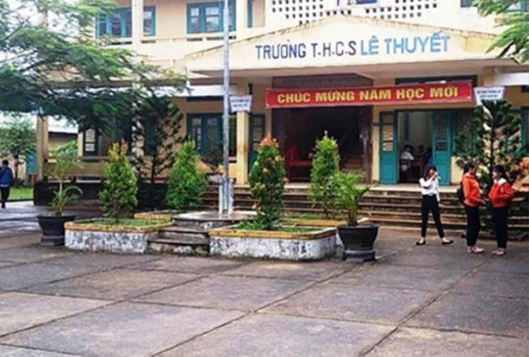 Trường THCS Lê Thuyết - nơi xảy ra vụ việc đau lòng. Ảnh: Báo Tiền Phong