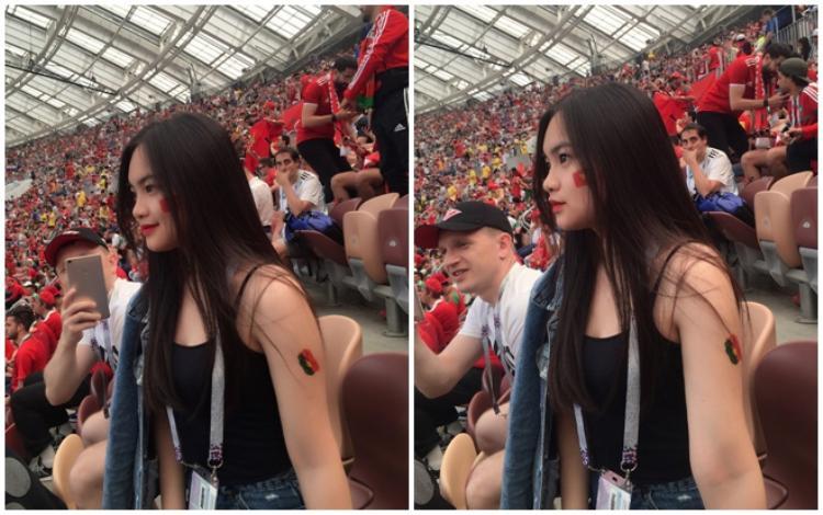 Hình ảnh của thiếu nữ Việt trên sân vận động Luzhniki.