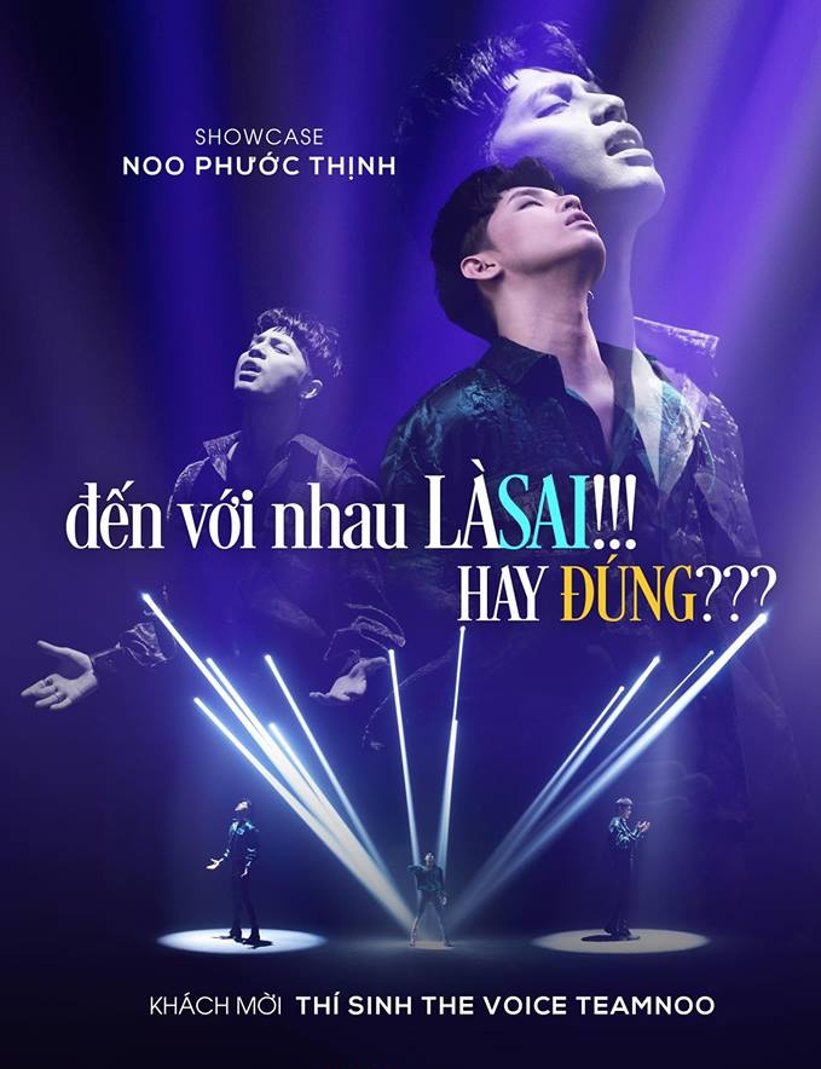 Poster về showcase của Noo Phước Thịnh được công bố.