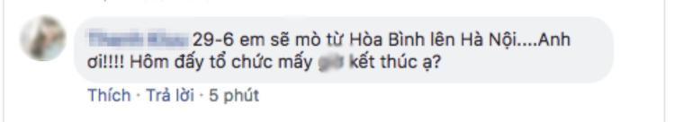 1 fan ở Hòa Bình cũng khẳng định không thể bỏ lỡ sự kiện này.