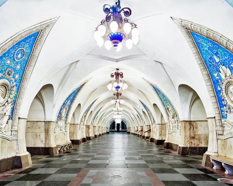 Ga Taganskaya Metro Station ở Moscow được xây dựng năm 1950. Nhiều ga tàu ở Nga được coi là những biểu tượng văn hoá.