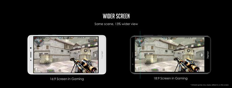 Màn hình FullView 5.99 inch tỷ lệ 18:9 đáp ứng tốt nhu cầu chơi game, xem phim của người dùng.