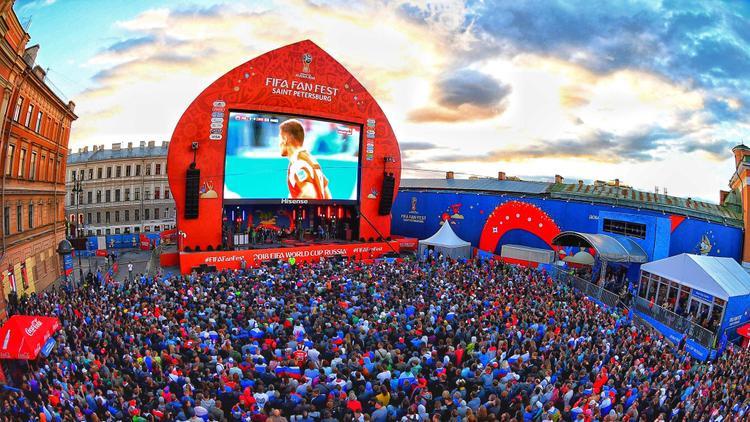Nga đón một số lượng rất lớn khách du lịch thời gian World Cup diễn ra. (Ảnh: FIFA)