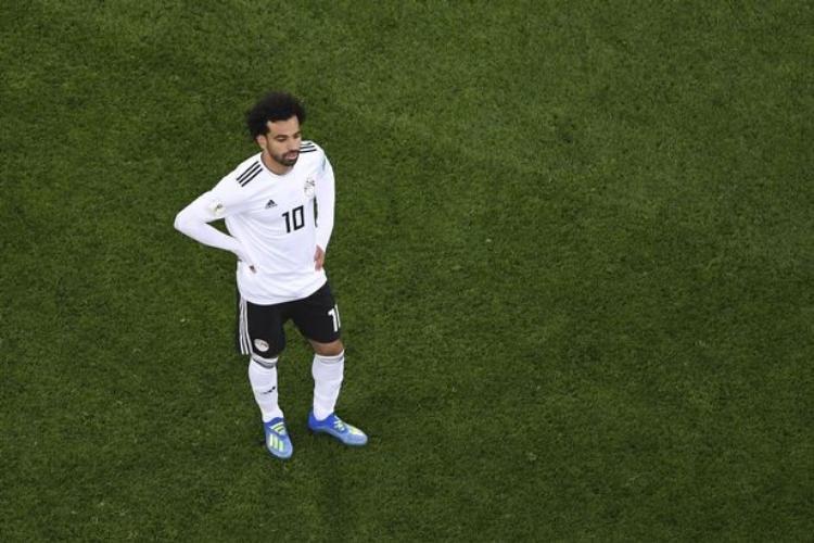 Salah bất lực trong việc giúp ĐT Ai Cập vượt qua vòng bảng World Cup 2018. Ảnh: AFP.