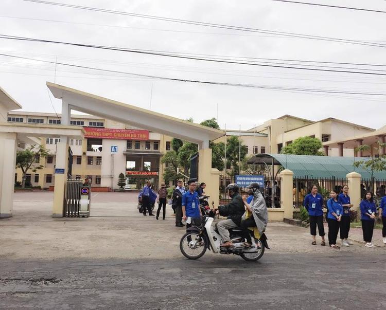 Tại Hà Tĩnh, nhiều nơi cũng mưa rải rác