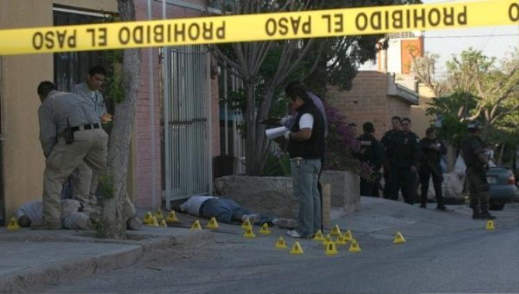 Hiện trường một vụ án mạng tại Mexico. Ảnh: EFE