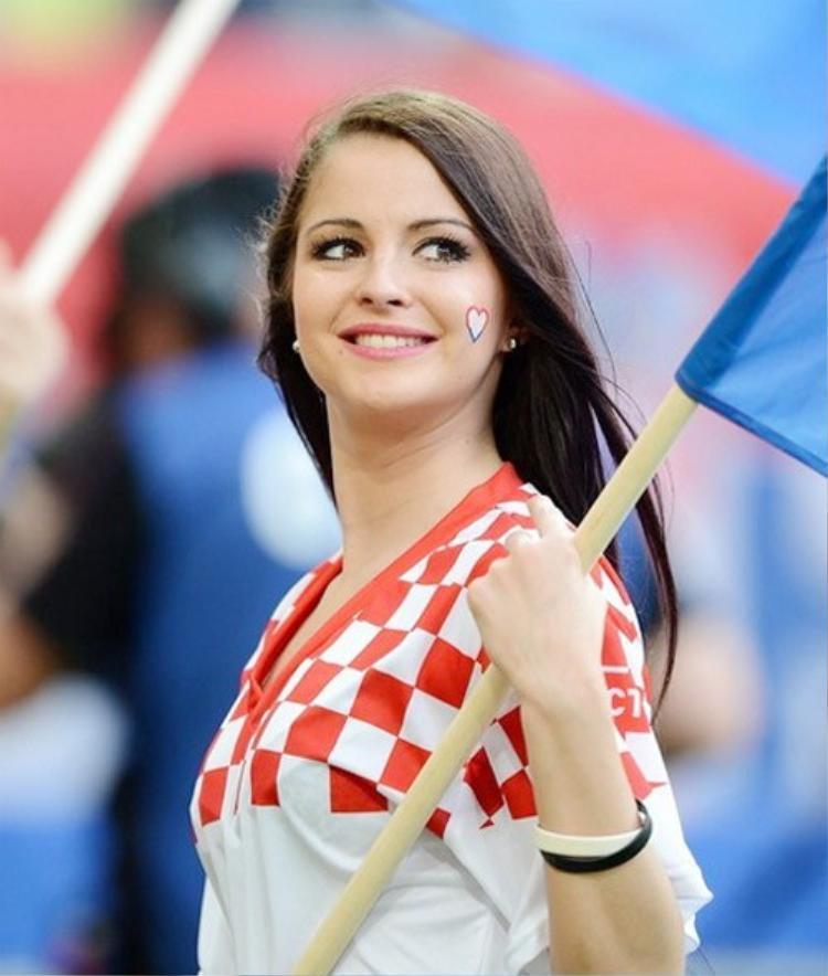 Nụ cười rạng ngời của nữ VĐV Croatia