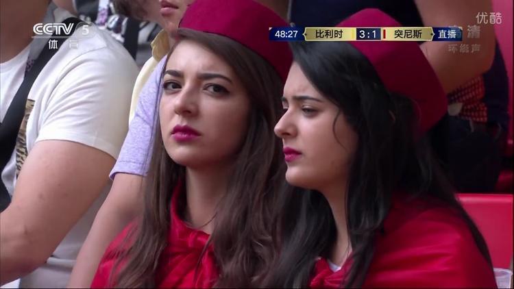 Kể cả khi buồn bã, các nữ cổ động viên Tunisia vẫn thật sự rất đẹp.