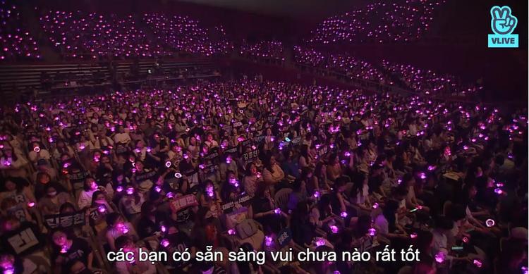 Các fan với các lighstick phủ hồng toàn bộ sân vận động.