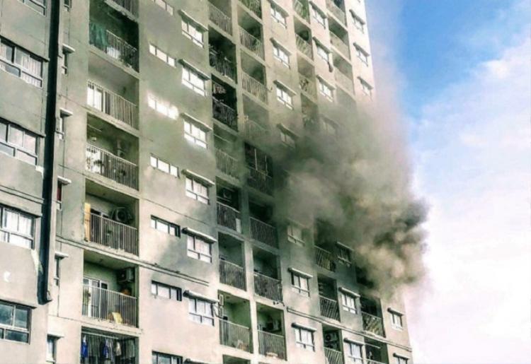 Vị trí xảy ra đám cháy. Ảnh: Dân Trí.