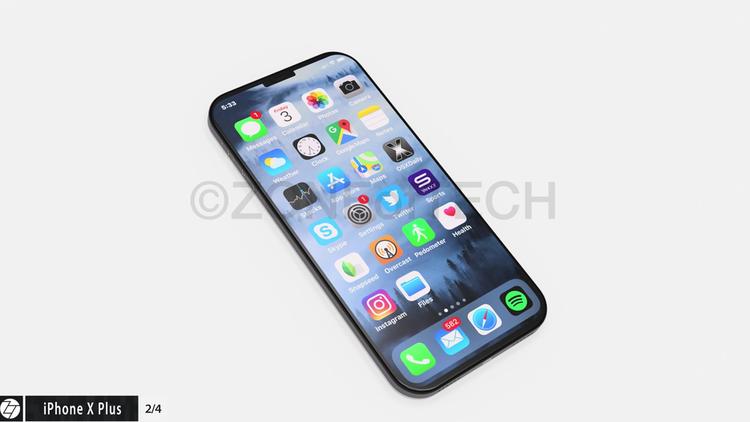 """Một chiếc iPhone khác với phần """"tai thỏ"""" siêu nhỏ. Với những giới hạn của công nghệ hiện tại, """"tai thỏ"""" có lẽ vẫn chưa thể nhỏ tới mức này được."""