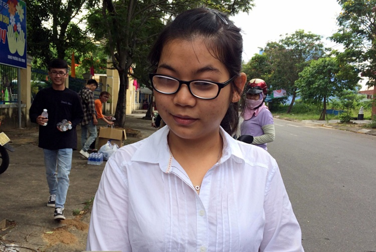 Thí sinh khiếm thị Nguyễn Phương Trang.