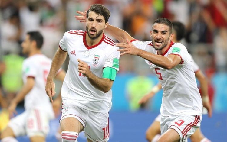 """ĐT Iran suýt nữa """"đá văng"""" ĐT Bồ Đào Nha. Ảnh: Fifa.com."""