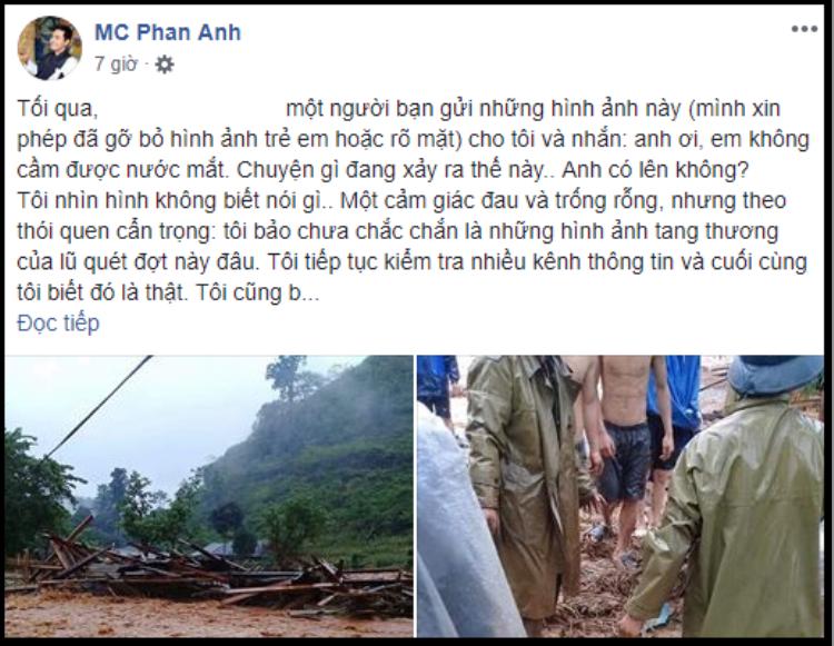 Đau lòng vì lũ lụt kinh hoàng ở Hà Giang, MC Phan Anh ủng hộ 50 triệu, kêu gọi cộng đồng chung tay giúp đỡ bà con gặp nạn