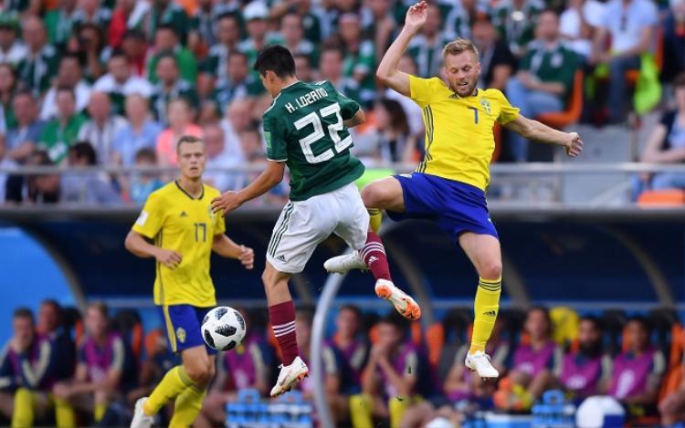ĐT Mexico thể hiện bộ mặt đáng thất vọng trước Thụy Điển. Ảnh: Fifa.com.