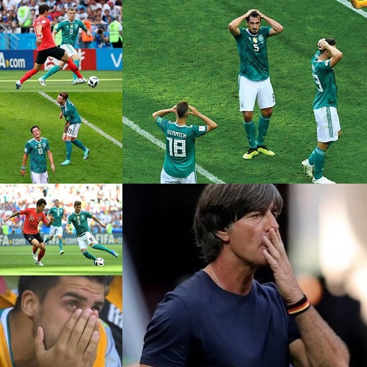 Từ các cầu thủ dự bị đến người thi đấu trên sân và HLV Joachim Loew đều không ngăn nổi nước mắt.