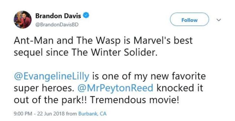 Những phản hồi tích cực dành cho phim Ant-Man and the Wasp