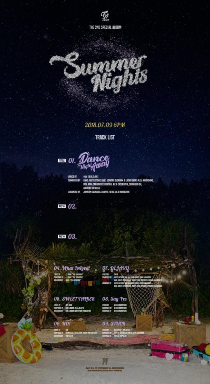 Ngoài Dance the Night Away thì album còn có thêm 2 ca khúc mới và một vài bài đã phát hành trước kia.