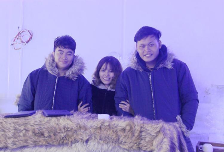 Nhân, Dương và Thảo là những chủ nhân của ý tưởng khởi nghiệp cafe băng