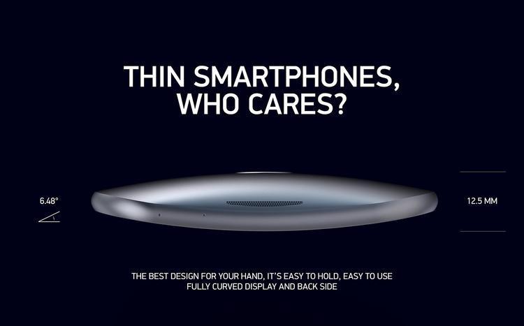 Phần dày nhất trên iPhone IQ có thông số lên tới 12,5 mm, trong khi đó iPhone X chỉ dày 7,7 mm.