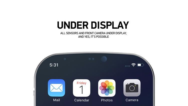 Tất cả các cảm biến được tích hợp trực tiếp bên dưới màn hình. Ở thời điểm hiện tại, công nghệ vẫn chưa cho phép chúng ta làm điều này.