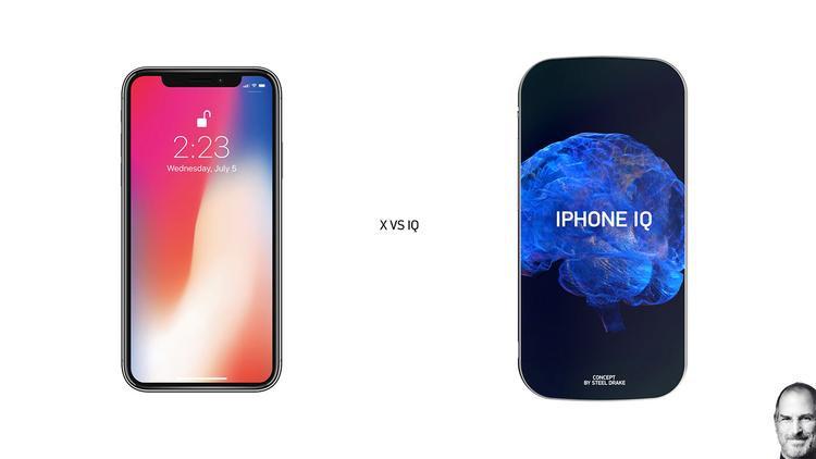 """""""Đọ dáng"""" cùng iPhone X. Chiếc iPhone IQ có cạnh máy được bo cong nhiều hơn khiến nó nữ tính và mềm mại hơn so với iPhone X."""