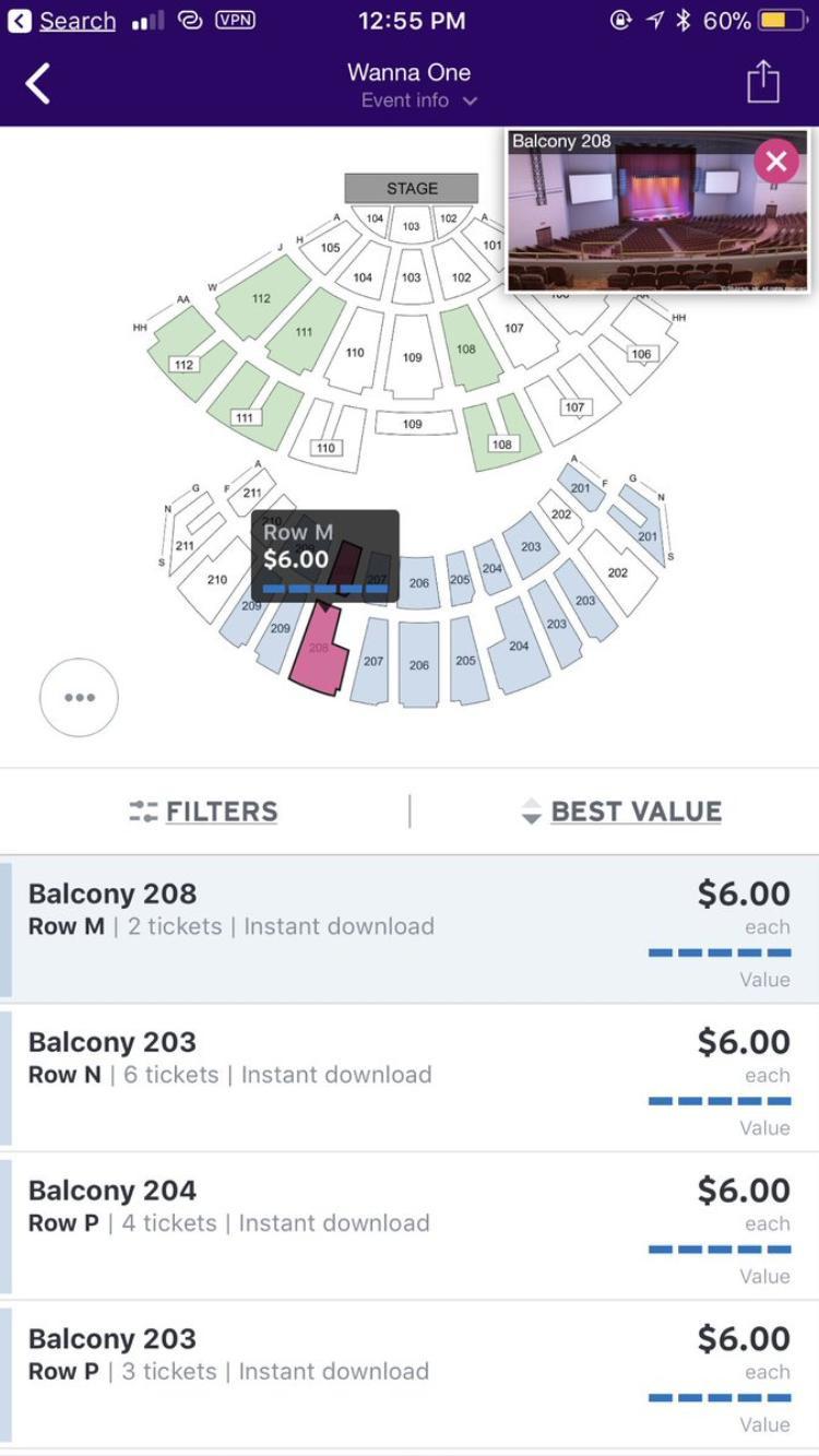 """Với giá 6 USD mà vẫn còn dư chỗ, đây quả thực là một cú sốc khá lớn cho Wanna One và công ty khi đã kỳ vọng vào một concert """"cháy vé"""" bùng nổ trên đất Mỹ."""