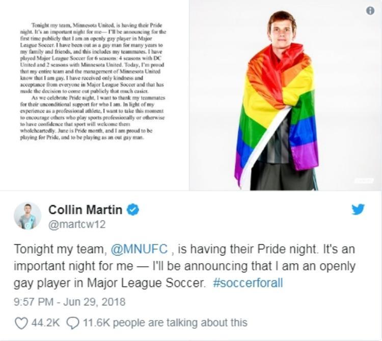 Nhân World Cup, một cầu thủ người Mỹ công khai đồng tính
