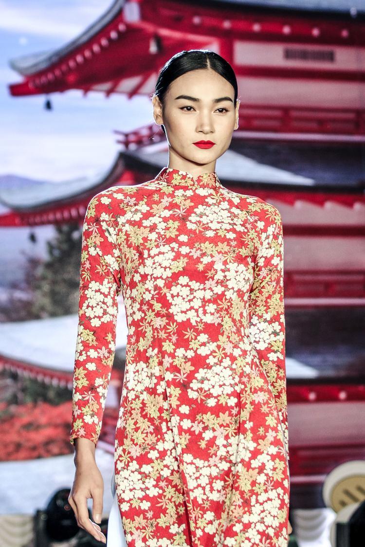 Người mẫu Thuỳ Trang cũng xuất hiện tại sự kiện.