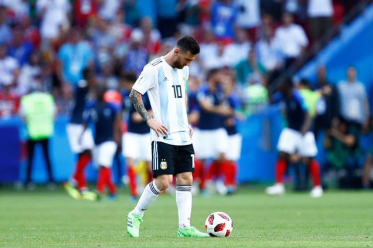 Messi chưa thể ghi bàn ở vòng loại trực tiếp World Cup. Ảnh: Getty.