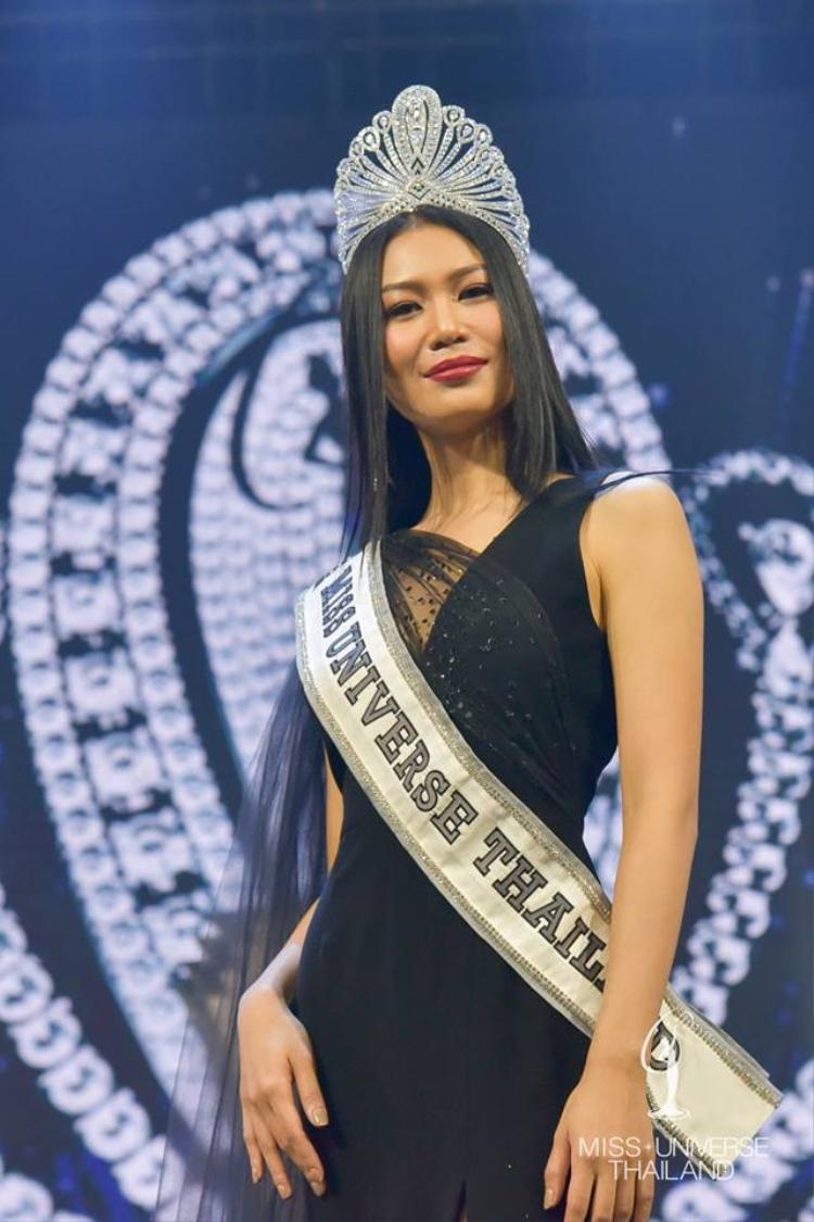 Nhan sắc có phần già dặn của Hoa hậu Hoàn vũ Thái Lan 2018.