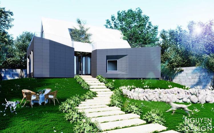 Cao Thái Sơn khoe khu vườn đơn giản trong căn biệt thự mới xây của mình.