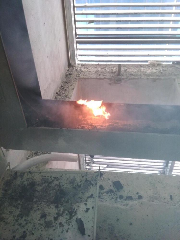 Đám cháy xuất phát từ tầng 7 của ngôi nhà.