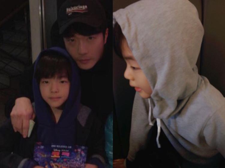 """Gia đình nhỏ của """"tài tử"""" Kwon Sang Woo và nữ diễn viên Son Tae Young có bé trai Kwon Ruk Hee."""