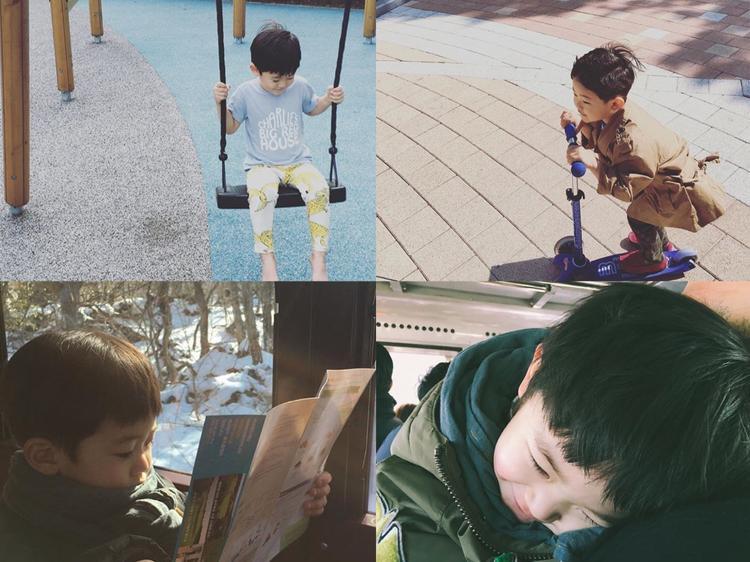 Bé Yoon So In, con của Kim Hyo Jin.