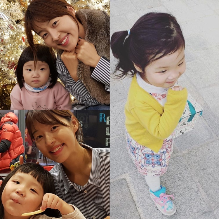 Hai bé đáng yêu của Han Ji Hye.