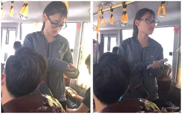 Nữ nhân viên soát vé xinh đẹp được cộng đồng mạng truy lùng Facebook