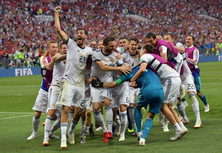 ĐT Nga gây sốc trước Tây Ban Nha. Ảnh: Getty.