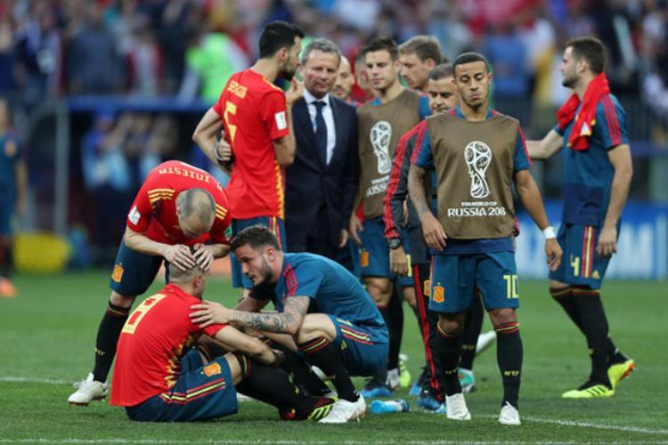 Tây Ban Nha sớm phải chia tay World Cup 2018. Ảnh: Getty.