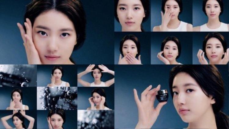 Hình trong video quảng cáo sản phẩm kem chống thâm quầng mắt.